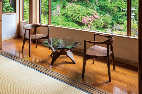 cocoda chair&glass low table