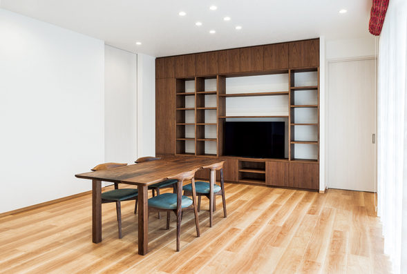 dining table&chair&wall storage