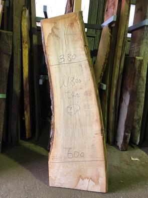 セン一枚板<br />W1800 D380-600 T40