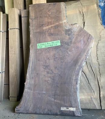 クラロウォールナット一枚板<br />W2040 D795-1265 T70<br />【※完成品shop展示中】<br />20210408-118
