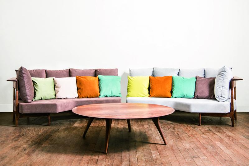ウォールナット|無垢家具|tisofa2台前
